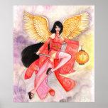 Aries Zodiac Geisha HUGE Fine Art Poster Print