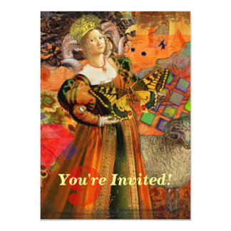 Aries zodiac gothic red whimsical fantasy woman card