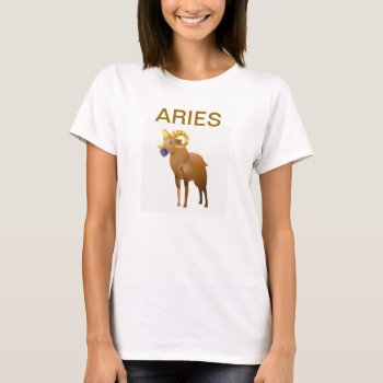 Aries Zodiac Horoscope  Tee Shirt Color by creativeconceptss at Zazzle