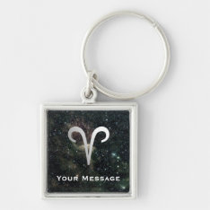 Aries Zodiac On Universe Luggage Laptop Tag Keychain at Zazzle