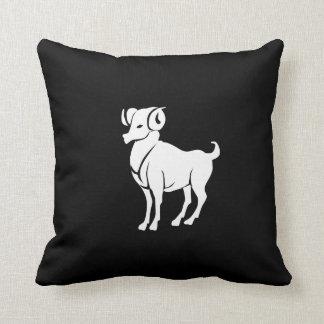 Aries Zodiac Pictogram Throw Pillow