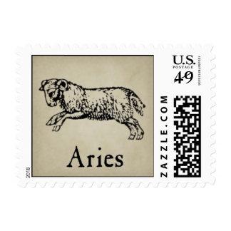 Aries Zodiac Postage Stamps