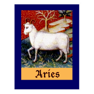 Aries Zodiac Postcard