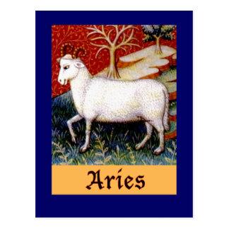 Aries Zodiac Postcard