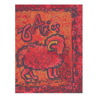 Aries, Zodiac Products Postcard