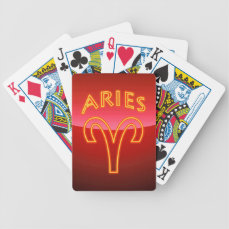 Aries Zodiac Sign Bicycle Playing Cards