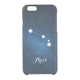 Aries Zodiac Sign Blue Nebula Clear iPhone 6/6S Case