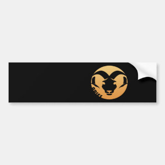 Aries Zodiac Sign Bumper Sticker