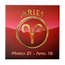 Aries Zodiac Sign Ceramic Tile