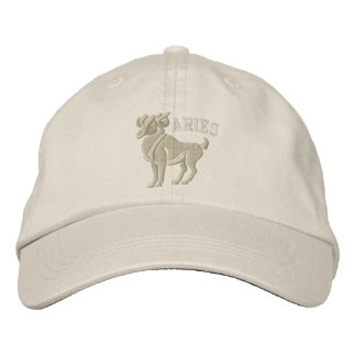 Aries Zodiac Sign Embroidery March 21 - April 19 Embroidered Baseball Hat