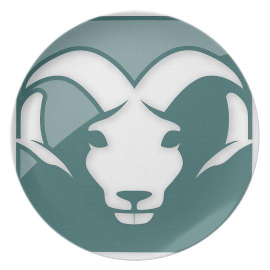 Aries Zodiac Sign Melamine Plate