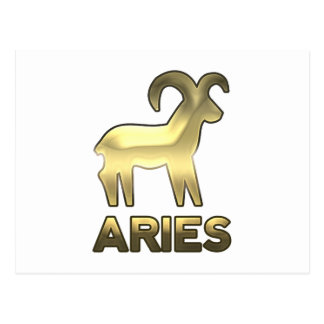 Aries zodiac sign - old gold edition postcard