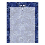 Aries Zodiac Sign on Navy Blue Digital Camo Decor Letterhead