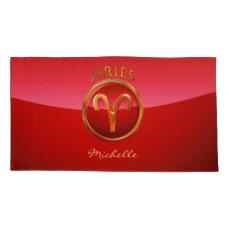 Aries Zodiac Sign Pillowcase