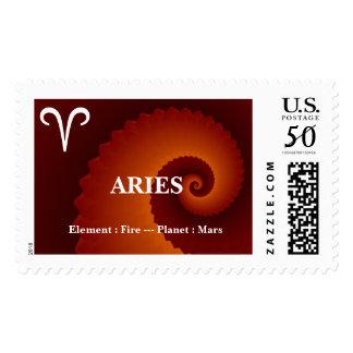 Aries Zodiac Sign Postage Stamp