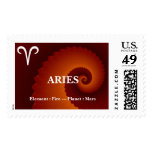 Aries Zodiac Sign Postage Stamp