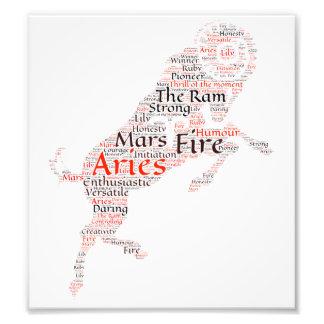 Aries Zodiac Sign Print Photo Print