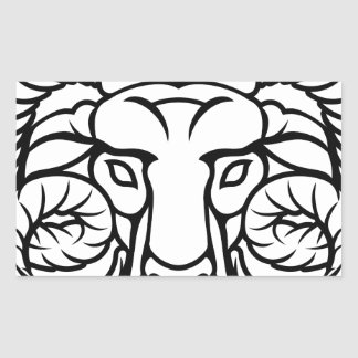 Aries Zodiac Sign Ram Rectangular Sticker
