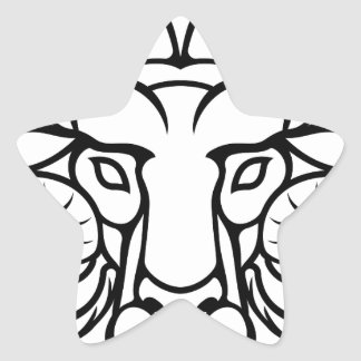 Aries Zodiac Sign Ram Star Sticker