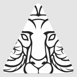 Aries Zodiac Sign Ram Triangle Sticker