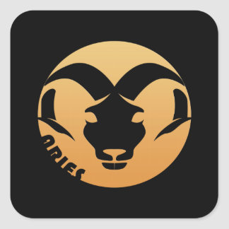 Aries Zodiac Sign Square Sticker