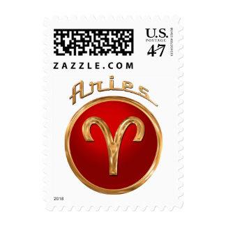 Aries Zodiac Sign Stamp