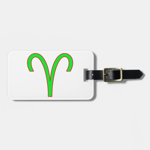 Aries Zodiac Sign Tag For Luggage