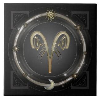 Aries Zodiac Sign Tile