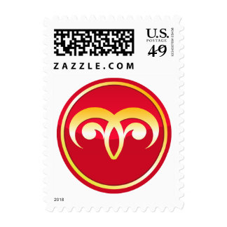 Aries - Zodiac Signs Postage