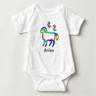 Aries Zodiac Star Sign Color Line Baby Bodysuit