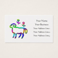 Aries Zodiac Star Sign Color Line Business Card at Zazzle
