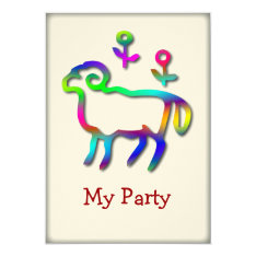 Aries Zodiac Star Sign Color Line Card at Zazzle