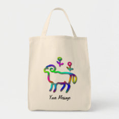 Aries Zodiac Star Sign Color Line Tote Bag at Zazzle
