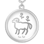 Aries Zodiac Star Sign In Light Silver necklaces