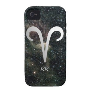 Aries Zodiac Star Sign On Universe iPhone 4 Cover