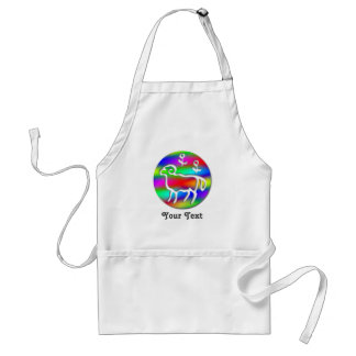 Aries Zodiac Star Sign Rainbow Crafts Cook Chef Adult Apron