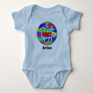 Aries Zodiac Star Sign Rainbow Infant Toddler Baby Bodysuit