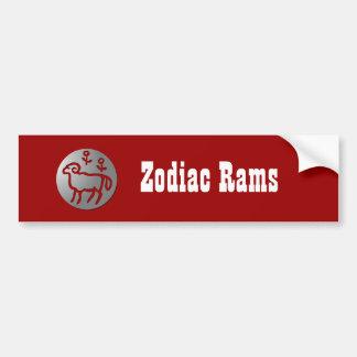 Aries Zodiac Star Sign Silver Premium Bumper Stickers