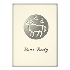 Aries Zodiac Star Sign Silver Premium Card at Zazzle