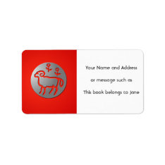 Aries Zodiac Star Sign Silver Premium Name Tag at Zazzle