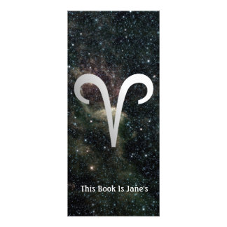 Aries Zodiac Star Sign Universe Bookmark Rack Card Template