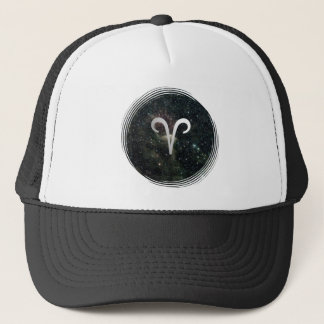 Aries Zodiac Star Sign Universe Sports Festival Trucker Hat