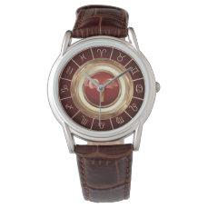 Aries Zodiac Symbol And The Horoscope Wheel Watch
