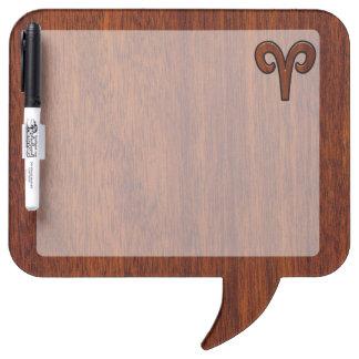 Aries Zodiac Symbol Brown Mahogany like print Dry-Erase Board