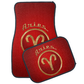 Aries Zodiac Symbol Car Floor Mat