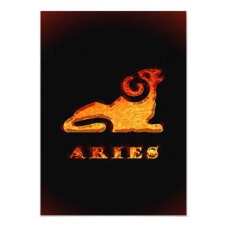 Aries Zodiac Symbol Card