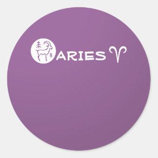 ARIES ZODIAC Symbol Classic Round Sticker