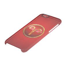 Aries Zodiac Symbol Clear iPhone 6/6S Case