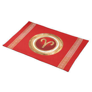 Aries Zodiac Symbol Cloth Placemat
