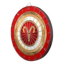 Aries Zodiac Symbol Dartboard